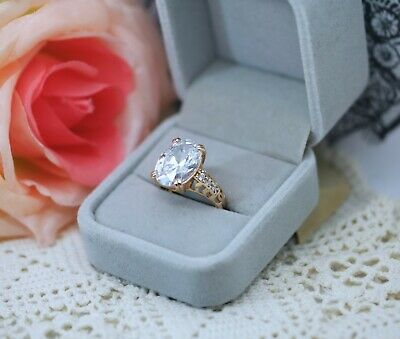 Art Deco Antique Jewellery Gold Ring With White Sapphires Vintage Dress Jewelry
