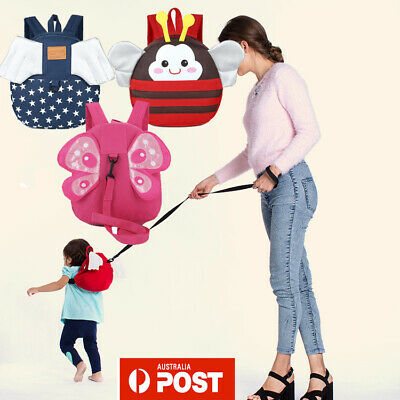 New Toddler Backpack Cartoon Reins Rucksack Safety Harnesses for Walking Travel