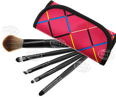 5pcs professional Cosmetic Make Up Brush with red bag case EZ