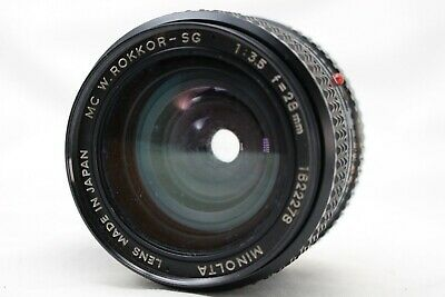 Minolta MC Rokkor SG 1:3.5 28mm Lens *As Is* #EM10f