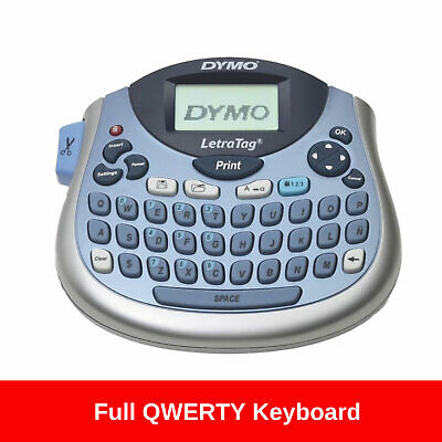 Dymo Label Maker LetraTag Tabletop Personal Tape Portable QWERTY Labeller Kit