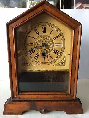 Rare 19thC 1 Day Mantle Clock By HAC Working Order