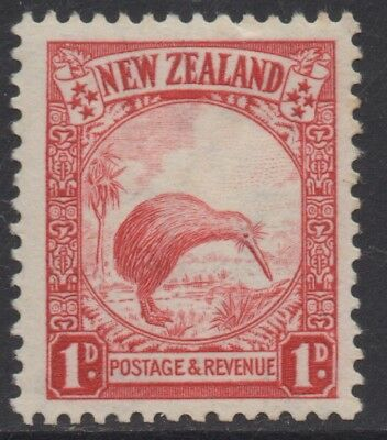 NEW ZEALAND 1935 PICTORIALS 1d RED KIWI STAMP MLH