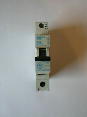 Ge Series G B50 50 Amp 10Ka Single Pole Mcb Circuit Breaker V/099-01715062921