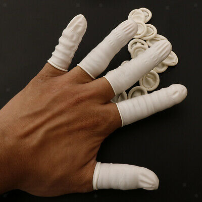 Baoblaze 20pcs Latex Finger Cots Anti-Static Rubber Protective Fingertips