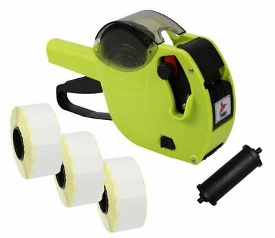 Lime Motex 2612 Date Coding Gun + White Peelable Labels & Spare Ink