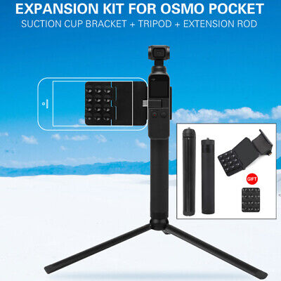 Phone Suction Cup Bracket Mount Holder Tripod Extension Rod For DJI Osmo Pocket
