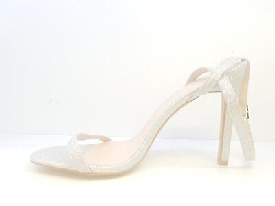 ed2f0434fd Public Desire Notion Glitter Barely There Heeled Sandals Silver Glitter Uk 5