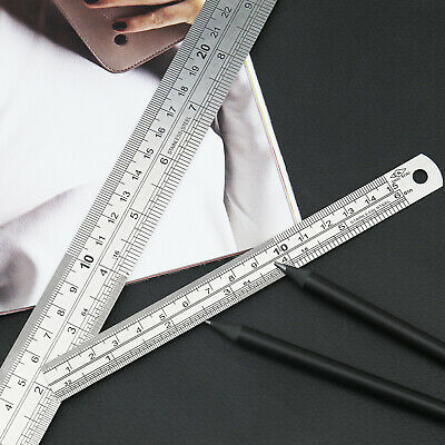 2pcs Student Ruler Office Stationery12 inch and 300 mm and 6 inch and 150mm