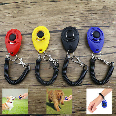 4x Click Training Tool With Wrist Strap for Dog Puppy Animal Cat Horse