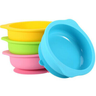 Baby Feeding Bowl Infant Durable Sucker Bowl Dishes Anti-Slip Tableware AT