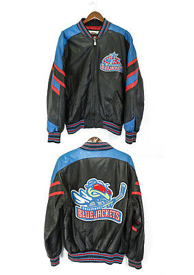 Columbus Blue Jackets Rare Hockey Leather Jacket  Official NHL Product Size : M