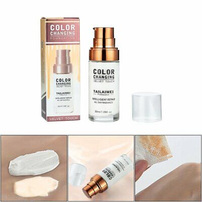 TML Colour Changing Foundation Makeup Base Nude Face Liquid Cover Concealer PQ