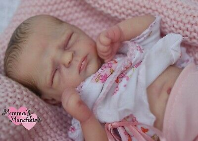 *Lifelike miniature reborn baby girl doll ~ 'Marley' by Marita Winters*