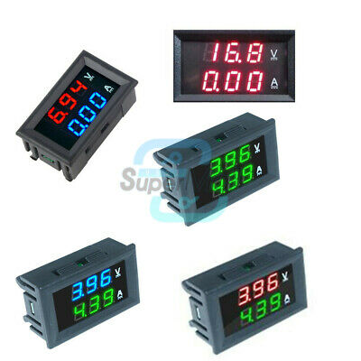DC 0-100V 10A Dual LED Display Digital Voltmeter Ammeter Voltage AMP Power
