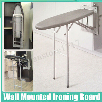 Wall Mounted Ironing Board Storage Space Saving Laundry Kitchen Solution Tool