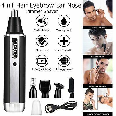 4 In 1 Rechargeable Hair Beard Eyebrow Ear Nose Shaver Trimmer Electric Kits