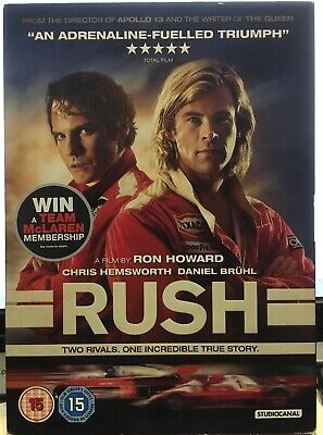 Rush DVD Includes Deleted Scenes 2014) Chris Hemsworth Great Condition