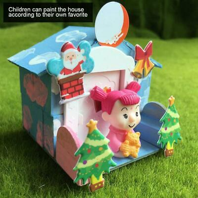Mini DIY Dollhouse Model Toys with Cartoon Doll Educational Toy Gifts for Child