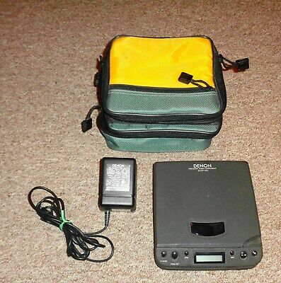 Denon DCP-50 Portable CD Player Discman with Plug and Case WORKS Take a LOOK !!