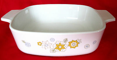 Corning Ware A-1-B Floral Bouquet Casserole 1 Quart - No Lid - Free Shipping