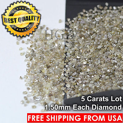 100% NATURAL Loose Rough Diamonds Fancy Brown 1.50mm Raw Real Uncut 10crts Lot