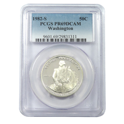 1982-S George Washington Silver Half Dollar Commemorative PCGS PR69DCAM