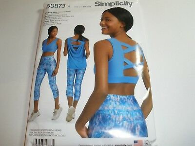 51e48ceae82 NEW SIMPLICITY SEWING Pattern D0873 / 8560 MISSES KNIT SPORTS BRA ...