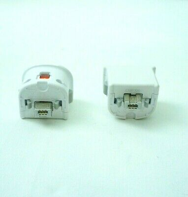 2x Motion Plus Adapter für Nintendo Wii Remote Controller in Weiß Original