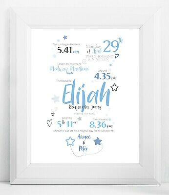 Personalised Baby Details Print - A Birth Story - DIGITAL or PRINT