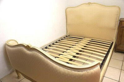 Adjustable SLATTED Bed Base French Demi Corbeille Upholstered Double Beds