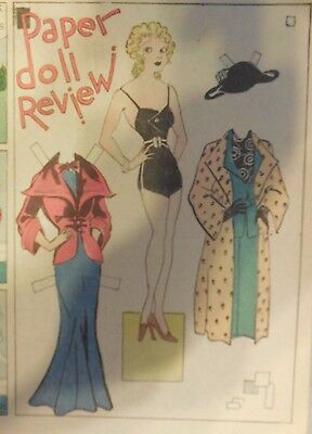 Blondie Sunday by Chic Young from 11/11/1934 Rare Paper Doll Full Page Size !