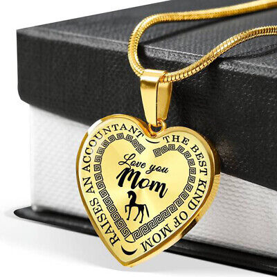 Best Kind Of Mom Luxury Necklace + Personalized Engraving, Mom Of An Accountant