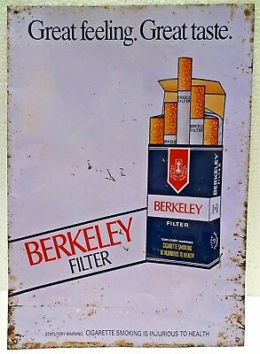 Vintage Advertising Tin Sign Berkeley Cigarettes Old Tobacciana Collectibles #1