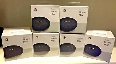 2-pack Google Mini - Google Personal Assistant - Charcoal - New Sealed