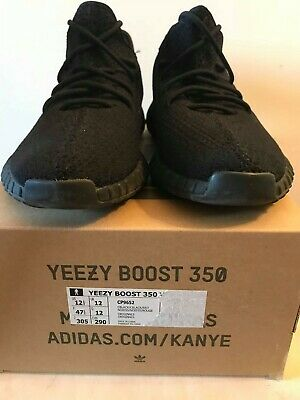 pretty nice c5f8d 65617 ADIDAS YEEZY BOOST 350 V2 Bred BCP9652 12.5 US