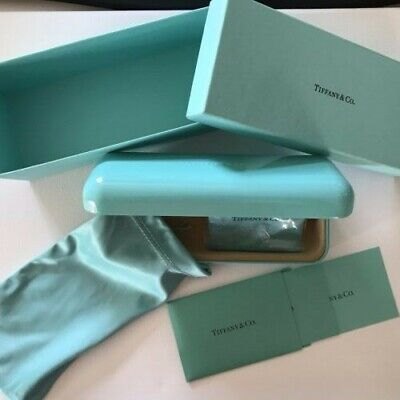 Tiffany & Co Eye Glasses Sunglasses Case Box Certificate Cleaning Cloth Bag