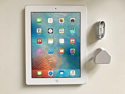 EXCELLENT Apple iPad 2 16GB, Wi-Fi, 9.7in - White, iOS 9.3