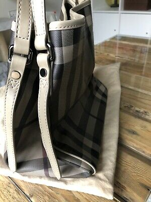 c20ce47f30 Burberry Smoke Check Coated Canvas Canterbury Tote Bag And Detachable Clutch