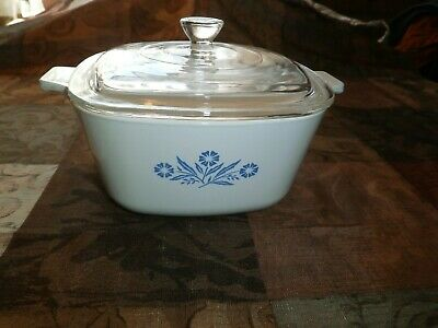 Corning Ware Blue Cornflower 13/4 Qt. P-13/4-B Casserole Dish with Lid