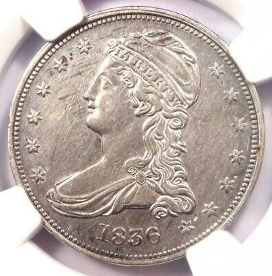 1836 Reeded Edge Capped Bust Half Dollar 50C Coin - NGC AU Details - Key Date!