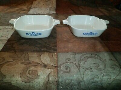 2 Corning Ware Blue Cornflower Petite Pan P-41 no Lids