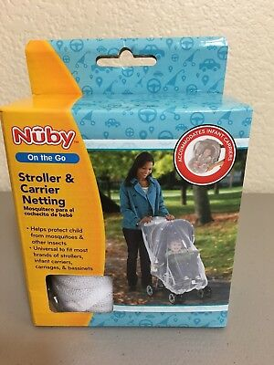 NUBY On the Go Stroller & Carrier Netting Fit most brands of strollers