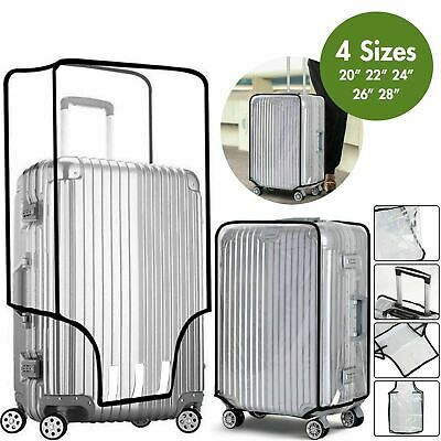 "Transparent Suitcase Travel Cover - PVC Luggage Protector - 20/22/24/26/28"" Bag"