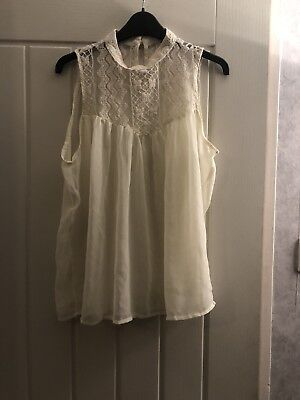 White Blouse Vintage Quirky Victorian Lace Top Tshirt Nightlife