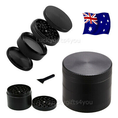 Metal Zinc Alloy Tobacco Herb Grinder 4-Layers Hand Muller Smoke Crusher OZ