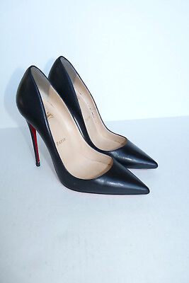 quality design a17c5 cd82e CHRISTIAN LOUBOUTIN SO Kate 120 Black Kid 39.5 Pigalle Pointed Pumps Heels  AUTH
