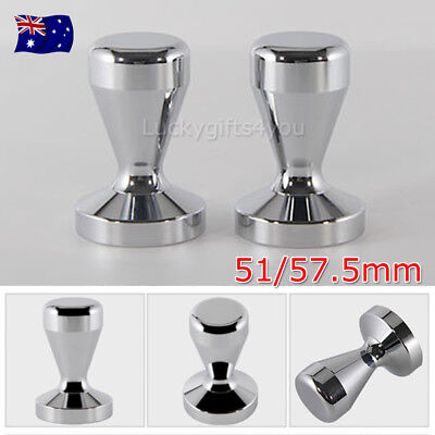 51/ 57.5MM Coffee Tamper Stainless Steel Polished Tampa Tamp Espresso Barista OZ