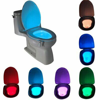 8 Colors Magic Sensor Motion Activated LED Night Light Toilet Seat Lighting La