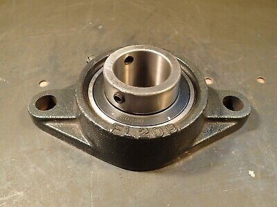 """KML FL-208 UC208-24 2-Bolt Flange Mount Ball Bearing: 1-1/2"""" Bore Used Good Cond"""